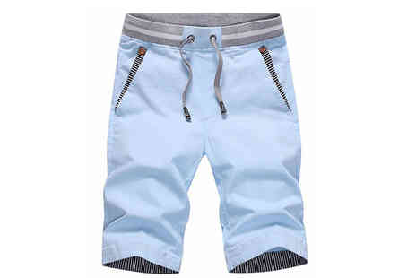 Blu Apparel - Wilson Mens Smart Summer Shorts Choose from Four Colours - Save 40%