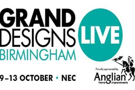 Grand Designs Live - One, two or four standard day tickets from 9th To 13th October - Save 49%