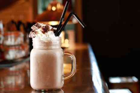 The Rustic Coffee - Milkshake and Cake for Up to Four - Save 29%