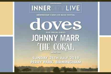 Inner City Live 2019 - One General admission ticket Featuring Doves, Johnny Marr and The Coral on 28th July - Save 28%