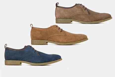 Redfoot - Pair of leather trim desert shoes choose from three colours - Save 78%