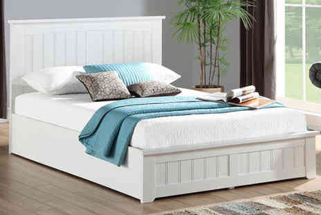 The Furniture Department - Venice luxury storage bed choose from two sizes plus optional mattress - Save 83%