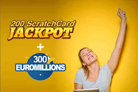 CheekyLottos - 300 EuroMillions syndicate lines and 200 online syndicate scratch cards - Save 82%
