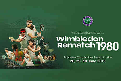 Rematch STM - Ticket to the Wimbledon Rematch 1980 live immersive event or VIP ticket with a glass of Champagne - Save 46%