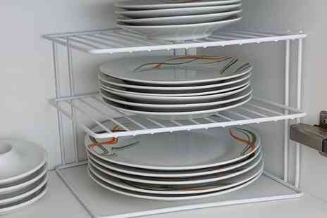 Groupon Goods Global GmbH - Up to Four Three Tier Corner Plate Racks In Choice Of Colour - Save 0%