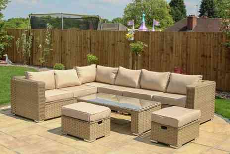 Dreams Outdoors - Eight seater corner sofa coffee table set - Save 53%