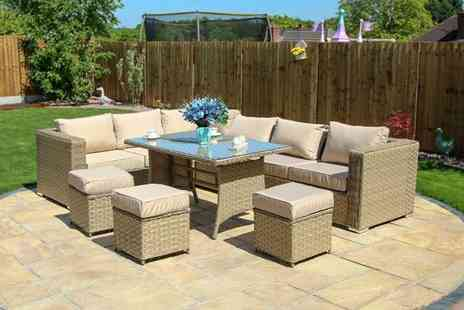 Dreams Outdoors - Papaver nine piece rattan corner fully assembled sofa set - Save 59%