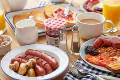 The Blue Whippet Cafe - Breakfast for Two with Tea or Coffee and Mixed Grill for Dog - Save 0%