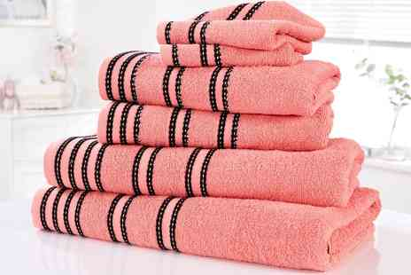 Groupon Goods Global GmbH - Rapport Home Six Piece Sirocco Cotton Towel Bale - Save 0%