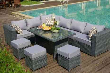 Dreams Outdoors - Fully assembled nine seater rattan corner set - Save 54%