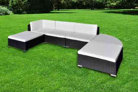 Vida XL - Six piece rattan garden furniture set choose from two colours - Save 60%