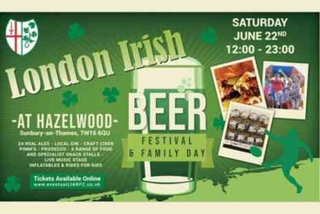 London Irish Beer Festival and Family Day - One or two early bird adult tickets or one VIP kids ticket on 22 June - Save 20%