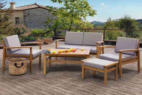 ArteHome - Five seater acacia wood garden furniture set - Save 47%