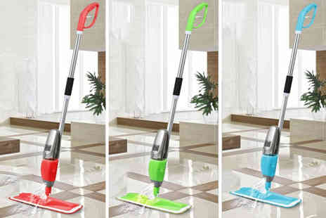 Fusion Online - 700ml spray mop with two microfibre cloths - Save 83%
