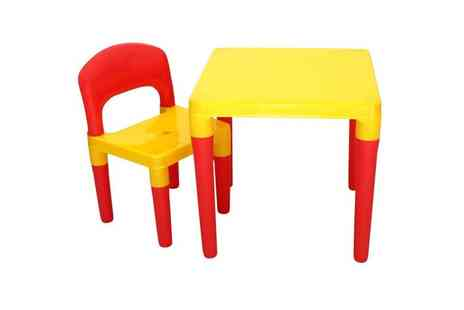Who Needs Shops - Childrens table and chair furniture set - Save 75%
