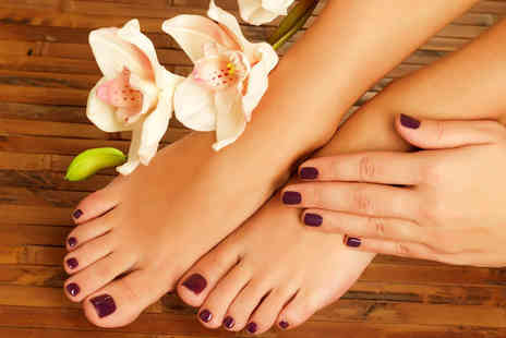Peachie Nail Artistry - Gel manicure or pedicure treatment - Save 47%