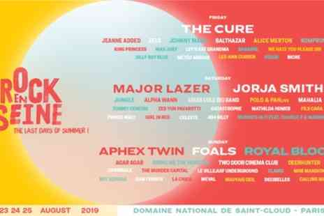 Rock en Seine 2019 - One standard or UP two day ticket or one standard three day ticket from 23rd To 25th august - Save 32%