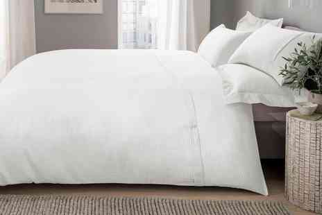 Groupon Goods Global GmbH - Sleepdown Soft Touch Waffle Duvet Set - Save 0%