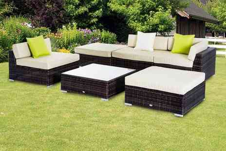Mhstar - Six piece brown rattan furniture set - Save 56%