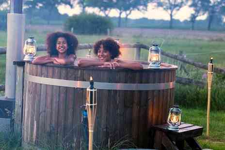Feather Down Farms - Two nights luxury hot tub glamping stay for up to six people - Save 23%