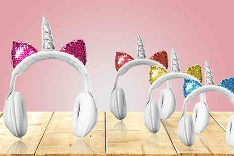 J Star Direct - Magical Unicorn Headphones Choose from 4 Colours - Save 69%