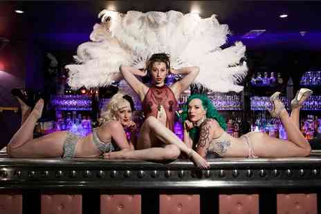 Proud Cabaret - Two course meal for two, cocktail each, burlesque show and afterparty - Save 63%