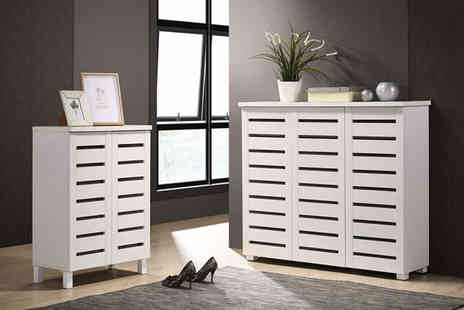 Sensational Deals - Four tier shoe cabinet choose from two sizes - Save 36%