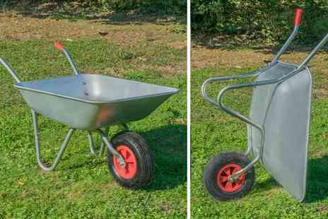 Eurotrade - 65L steel wheelbarrow - Save 65%