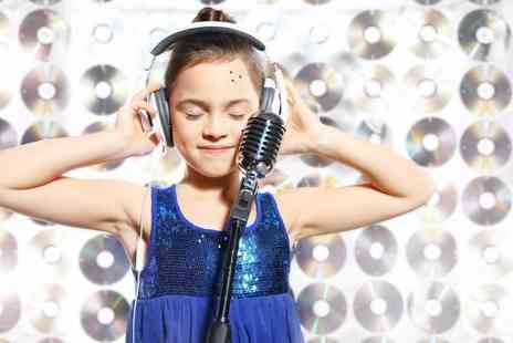 Star for a Day - 45 minute kids recording studio party for up to seven children including a photoshoot and CD - Save 83%