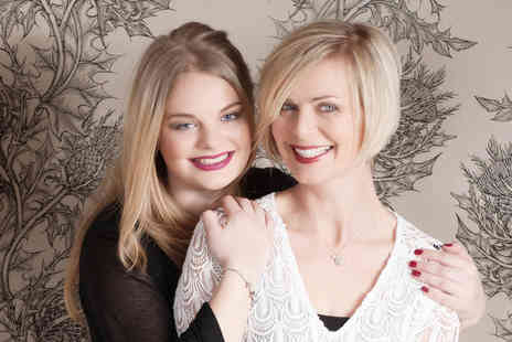 Nicola Bald Photography - Two hour mother and daughter photoshoot with a makeover, glass of bubbly each, an A4 presented print plus a digital copy - Save 89%