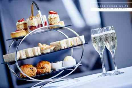 Marco Pierre White Steakhouse Bar & Grill - Afternoon Tea with Optional Drink for Two or Four - Save 27%
