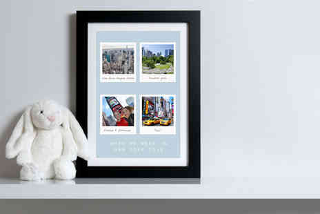 When We Were - Personalised A3 print or print with black or white frame - Save 0%