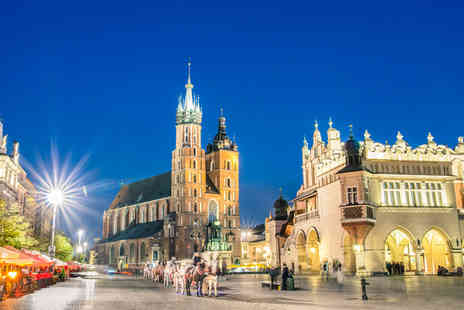 Cheap Cost Travel - Four Star Escape with a two, three or four nights getaway to Krakow Now with the ability to choose your flight - Save 0%
