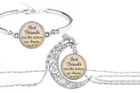 Groupon Goods Global GmbH - Best Friends Are The Sisters We Choose Bracelet or Necklace - Save 83%