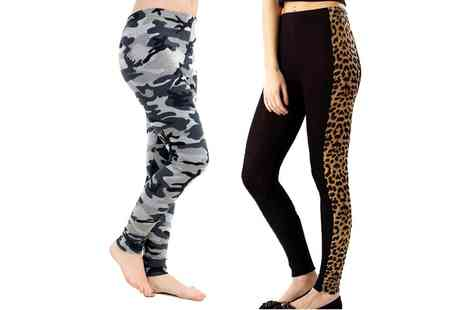 Groupon Goods Global GmbH - Camo or Leopard Womens Animal Print Leggings in Choice of Size - Save 0%