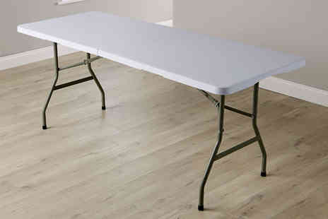 Big Furniture Warehouse - Six foot folding trestle table get outdoors - Save 0%