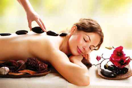 Beauty on the Spot - 30 minute hot stone or aromatherapy back, neck and shoulder massage and a 30 minute facial for one person - Save 80%