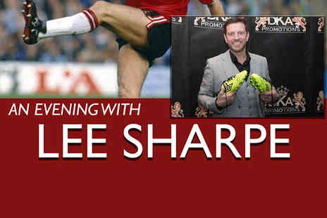 Derby Conference Centre - Evening with Lee Sharpe including a two course meal and drink - Save 55%