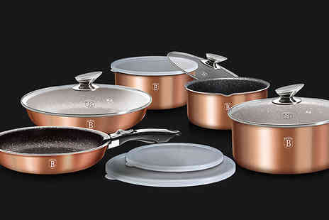 J Star Direct - 12 Piece Berlinger Haus Cookware Set Choose from 3 Colours - Save 60%