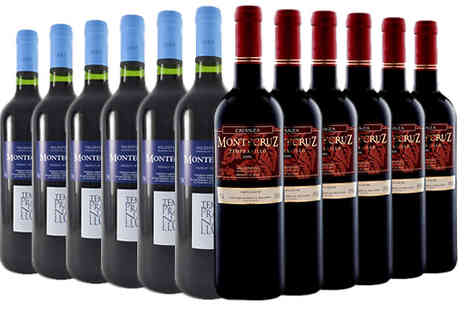 MGB Lifestyles - 12 Bottles of Spanish Red Tempranillo La Mancha Wine Choose from 3 Options - Save 68%