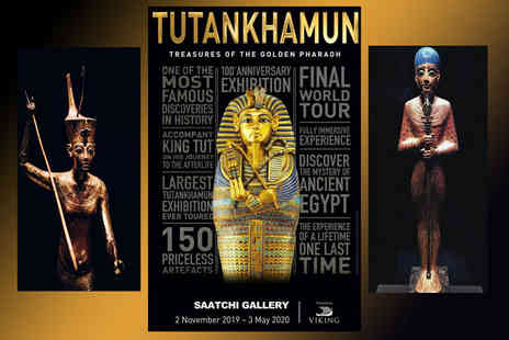 Shearings Holiday - Overnight London stay with entrance to Tutankhamun Treasures of the Golden Pharaoh exhibition, breakfast and return coach travel - Save 26%