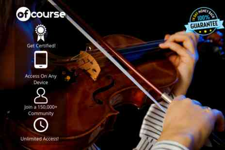 OfCourse - Online violin for beginners course unlimited access - Save 89%
