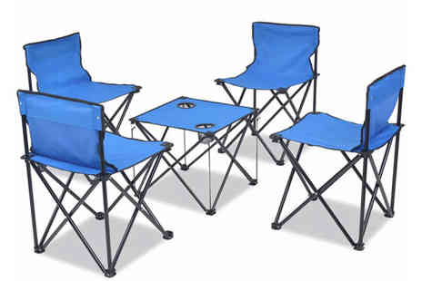 Vida XL - Five piece folding camping furniture set - Save 82%