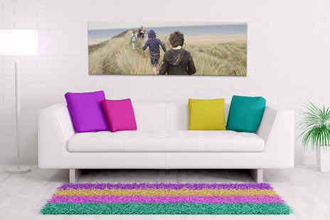 Your Perfect Canvas - 30 Inch x 10 Inch personalised panoramic canvas - Save 82%