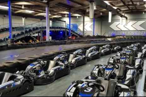 Rayleigh Indoor Karting - Up to 30 Minutes of Go Karting Track Time for One or Two - Save 29%