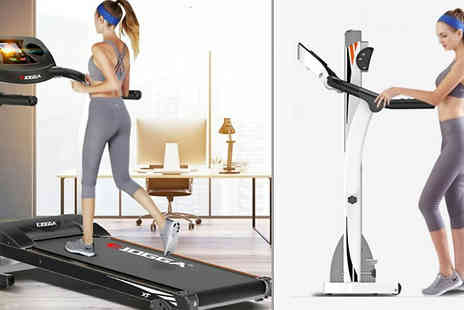 Bing bang bosh - eJogga Pulse Folding Electric Treadmill Choose from 2 Colours - Save 50%