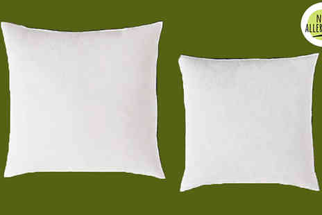 Direct Warehouse - 1, 2, 4 or 10 Polycotton Cushion Pads with Hollowfibre Filling Choose from 8 Sizes - Save 97%