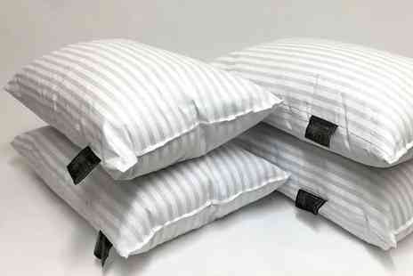 Direct Warehouse - Set of six hotel quality stripe pillows - Save 50%