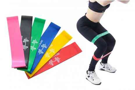 YelloGoods - Set of six exercise resistance bands - Save 75%