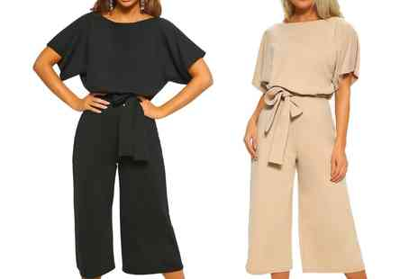 Groupon Goods Global GmbH - Cropped Short Sleeve Jumpsuit - Save 0%